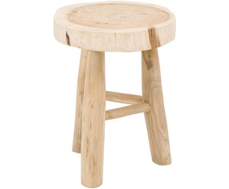 Kulatá dřevěná stolička Beachside
