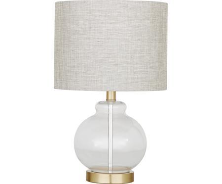 Stolní lampa se skleněnou podstavou Natty