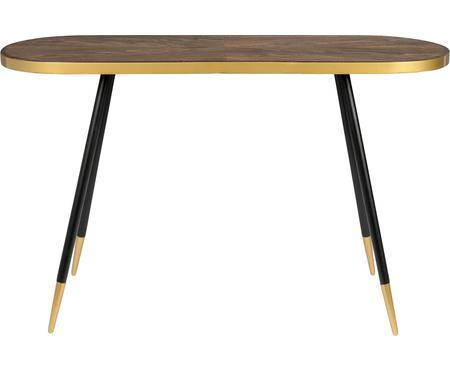 Konzolový stolek soválnou deskou Denise