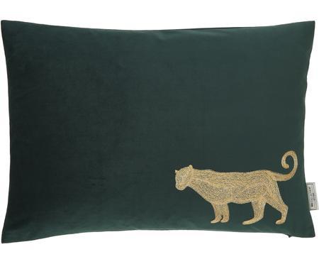 Vyšívaný sametový polštář Single Leopard, svýplní