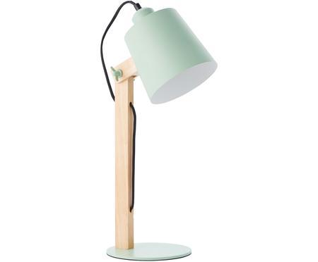 Velká stolní lampa s dřevěnou podstavou  Swivel