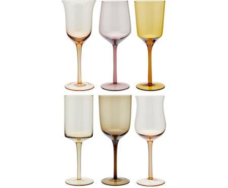 Sada ručně foukaných sklenic na víno v různých tvarech Desigual, 6 dílů
