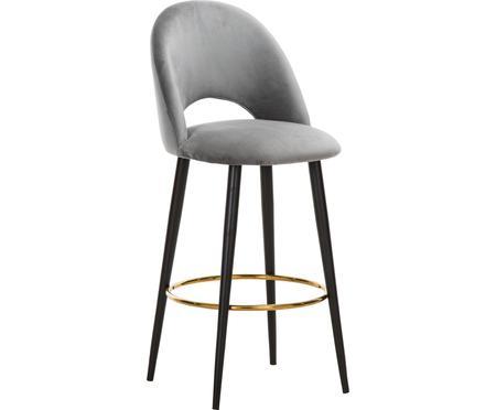 Barová židle ze sametu Rachel
