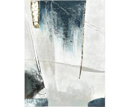 Ručně malovaný obrázek na plátně Golden Blue I