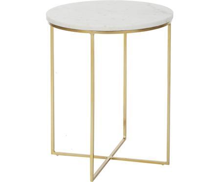 Kulatý mramorový odkládací stolek Alys