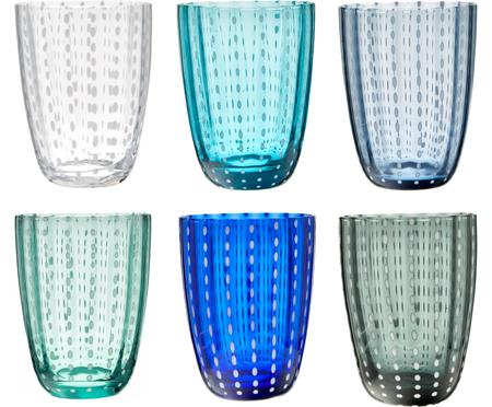 Sada sklenic v odstínech modré Kalahari, 6 dílů