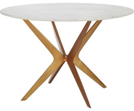 Kulatý mramorový jídelní stůl Safia