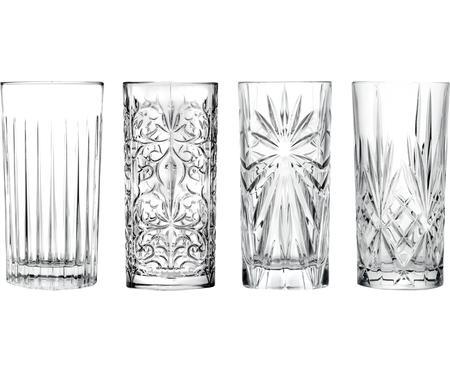 Sada křišťálových sklenic na long drink Bichiera, 4 díly