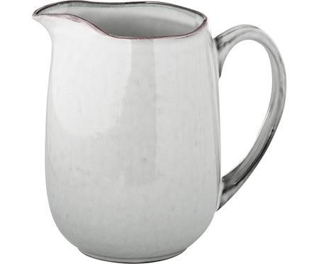 Ručně vyrobená mléčenka z kameniny Nordic Sand, 1 l