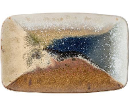Ručně vyrobený servírovací talíř z kameniny Willow, D 34 cm x Š 21 cm