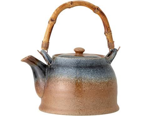 Ručně vyrobená konvice z porcelánu se sítkem na čaj Aura, 1 l