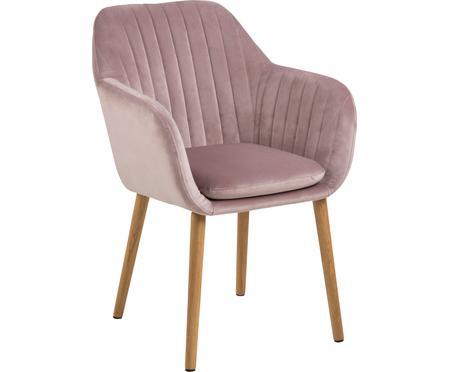 Sametová židle spodručkami Emilia